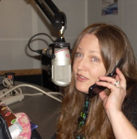 Cathryn on the radio
