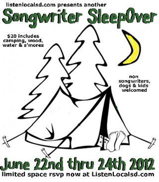 Songwriter sleepover 2012