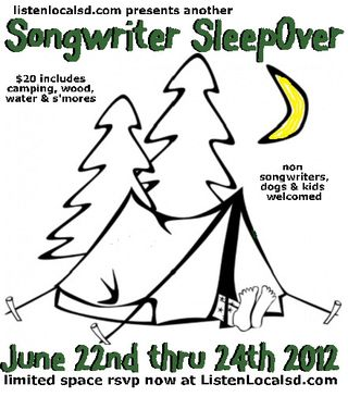 Songwriter sleepover 2012