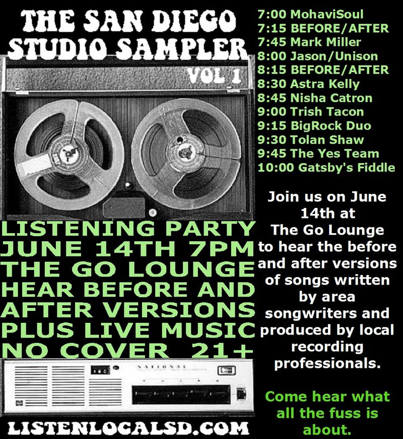 Studio sampler cd release poster