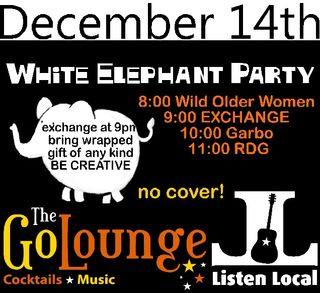 White elephant at go lounge