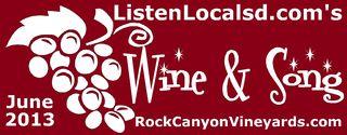 Wine and song bandana logo