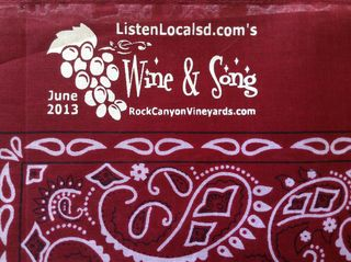Wine and song bandana