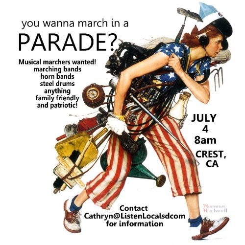 Musical marchers wanted