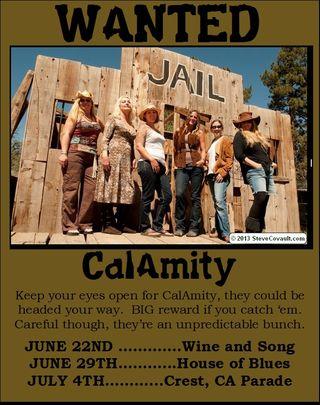 Calamity june july schedule