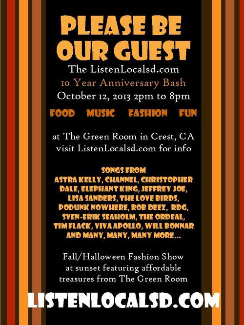 Anniversary invite side 1