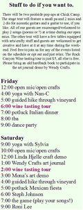 Chick camp schedule 2013