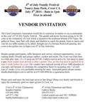 Vendor invite poster