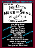 Wine and song music poster