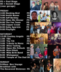 Wine and song 2014 lineup