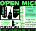 Open mic poster 8 28 14