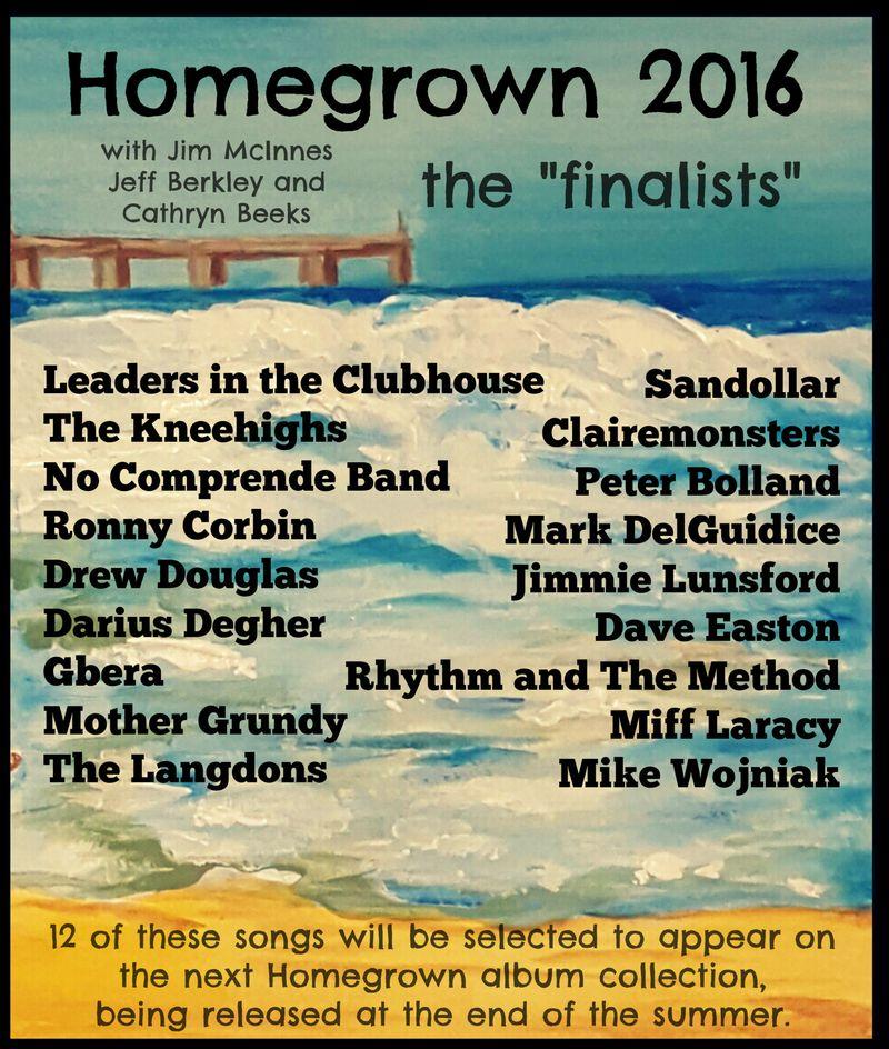 Homegrown finalists