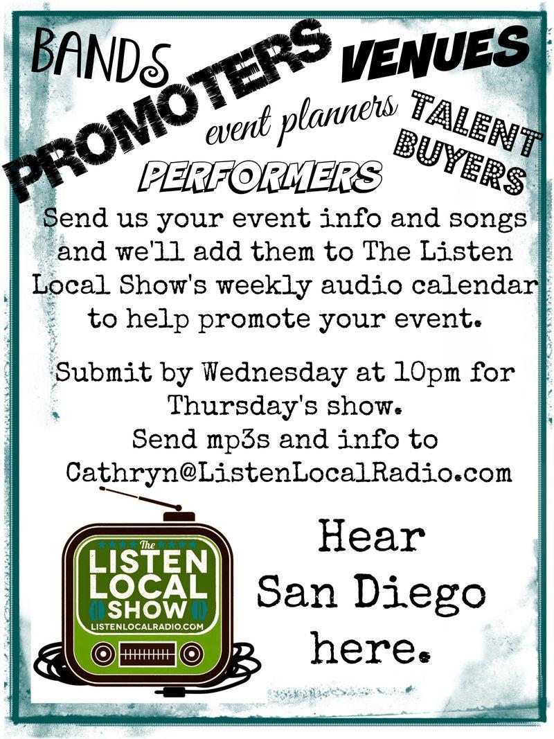 Send info poster listen local show